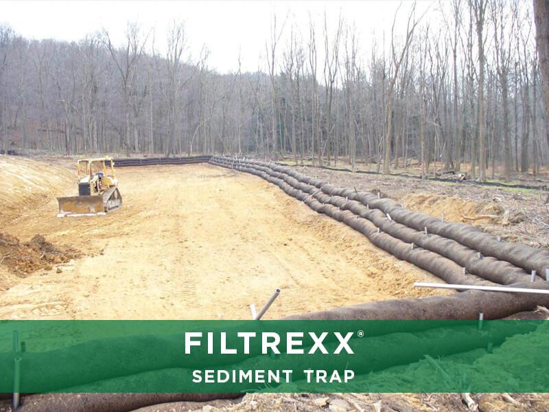 Filtrexx Sediment Trap Solutions, Build Pond Detention
