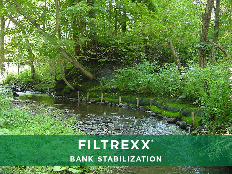 Filtrexx bank stabilization solutions reliable for Design of stabilisation pond