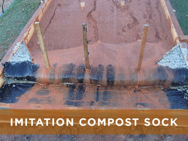 BMP Comparison Imitation Compost Sock