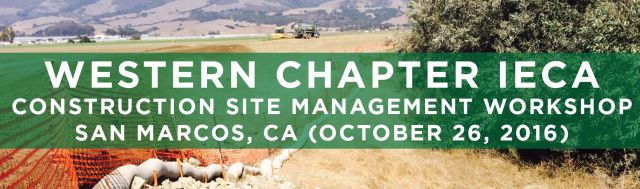 Filtrexx attends 2016 Western Chapter IECA Construction Site Management Workshop