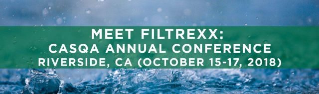 Filtrexx exhibits at 2018 CASQA Conference in Riverside, CA