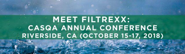 Filtrexx exhibits at 2018 CASQA Conference in Riverside, CA