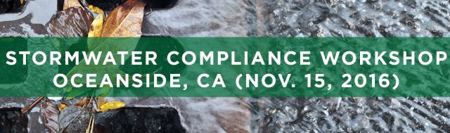 SEMINARS TRWE Stormwater Compliance Oceanside CA