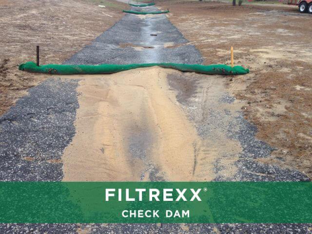 Filtrexx Check Dam Sediment Control