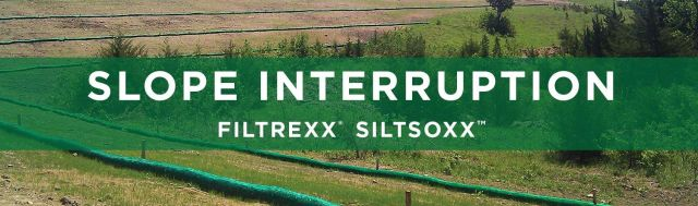 Filtrexx Slope Interruption