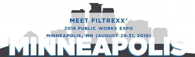 Filtrexx attends 2016 Public Works Expo