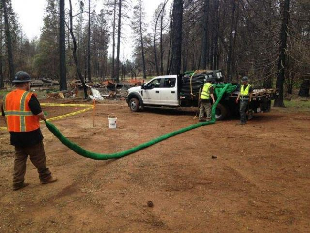 Filtrexx SiltSoxx Fire Remediation at Camp Fire
