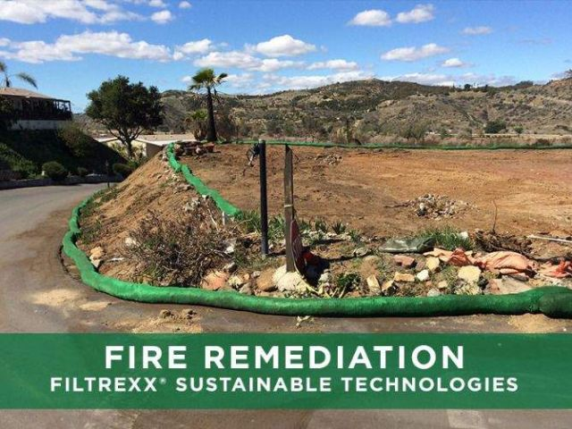 Filtrexx SiltSoxx for Post-Fire Remediation