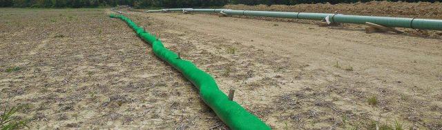SiltSoxx Sediment Control Perimeter Control Pipeline