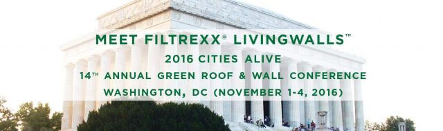 Filtrexx LivingWalls attend 2016 Cities Alive Conference