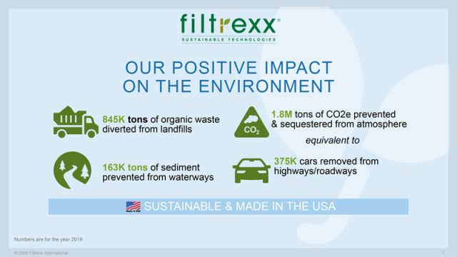 Filtrexx 2019 Sustainability Impact