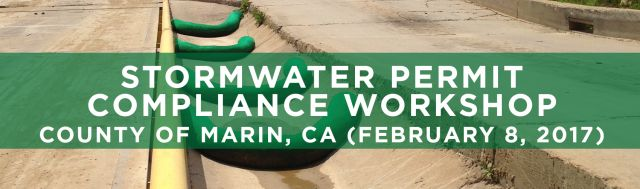 SEMINARS Stormwater Permit Compliance County of Marin CA