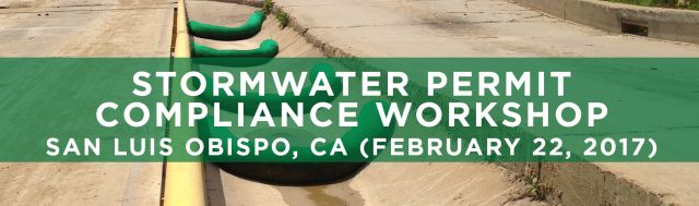 SEMINARS Stormwater Permit Compliance San Luis ObispoCA