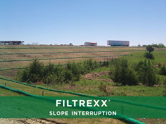 Filtrexx SiltSoxx Slope Interruption